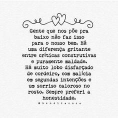 #regram @benditacuca Bom dia! #frases #honestidade #confiança #pessoas