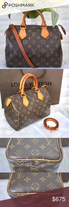 💖Louis Vuitton Speedy 25 Monogram GREAT PRE-OWNED 7 10 CONDITION. 🌿 1b6592dc3a6ae