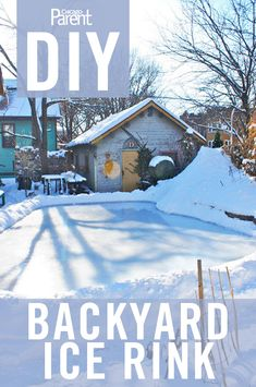 Backyard Play - Simple steps to build your own backyard rink. I saw kids playing hockey on one with a bonds fire to warm up and thought their parents must be awesome! Outdoor Hockey Rink, Backyard Hockey Rink, Backyard Ice Rink, Hockey Mom, Ice Hockey, Hockey Stuff, Funny Hockey, Backyard Projects, Backyard Ideas
