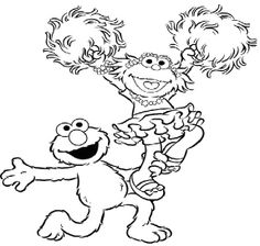 Elmo And Zoe Coloring Page Trendy