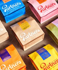 coffee branding Beloved Brooklyn Coffeemakers Rebrand As Partners Coffee Coffee Packaging, Coffee Branding, Food Packaging, Brand Packaging, Chocolate Packaging, Design Packaging, Bottle Packaging, Collateral Design, Branding Design