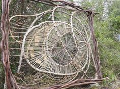 A Year in a French Forest Sculptured in the Alpes-Maritimes, France by Spencer Byles using found pieces. Contemporary Baskets, Contemporary Art, Wood Sculpture, Outdoor Sculpture, Metal Sculptures, Abstract Sculpture, Bronze Sculpture, Branch Art, Woodland Art