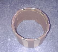 Bracelets made with leather and can of chips