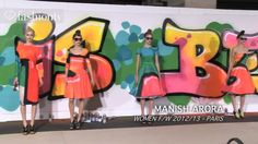 Manish Arora Fall Graffiti Prints on Feminine Silhouettes - Paris Fashion Week PFW Fashion Night, Fashion Show, Paris Fashion, Graffiti Spray Paint, Denim Jacket Fashion, Iris Van Herpen, Spring Fashion Casual, Graffiti Prints, Spring Street Style