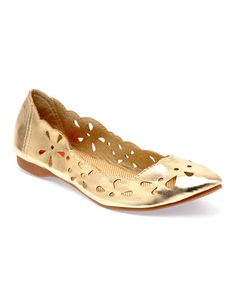 Take a look at this Gold Carey Cutout Flat by Rocket Dog on #zulily today!