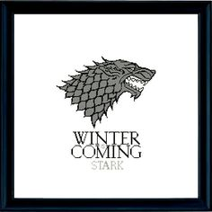 House Stark is a pattern, not the completed work. Great for stitching onto wall hangings, cushions or bags. The wall art of the second