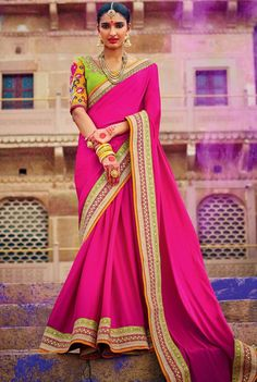 Rapturous Rani Pink #Saree