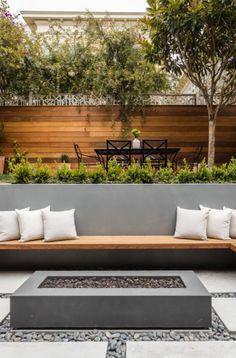 Modern Backyard Design, Outdoor Patio Designs, Backyard Garden Design, Modern Landscaping, Backyard Landscaping, Landscaping Ideas, Backyard Ideas, Florida Landscaping, Backyard Sitting Areas