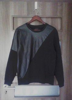 Kup mój przedmiot na #vintedpl http://www.vinted.pl/damska-odziez/bluzy/9926148-bluza-eko-skora-na-skos-czarna