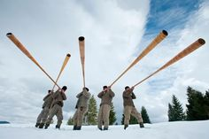 The bucium is a type of alphorn used by mountain dwellers in Romania. Places Worth Visiting, Magic Forest, Bucharest, Countries Of The World, Dracula, Beautiful Landscapes, Romania, Sheep, Folk Art