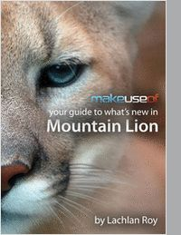 """Your Guide to What's New in Mountain Lion""  By downloading this free guide, you agree to receive regular updates on the latest cool apps, product reviews, and giveaways from MakeUseOf."
