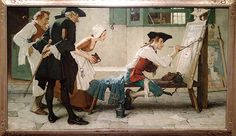 """Norman Rockwell (1894-1978), """"The New Tavern Sign (Colonial Sign Painter),"""" 1936"""