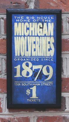 vintage #Michigan #Wolverines