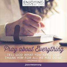 Do not be anxious about anything, but in every situation, by prayer and…