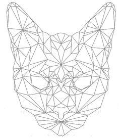GEOFELINE Geometric Cat Tattoo, Geometric Art, Bird Tattoos For Women, Tattoo Designs For Women, Pfau Tattoo, Tattoo Gato, Gato Origami, Nail String Art, Cat Flowers