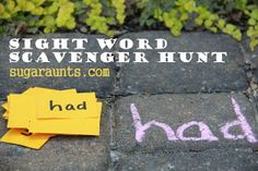 Practice sight words with a hands-on movement scavenger hunt activity. Perfect for kids learning sight words and spelling words. Teaching Sight Words, Sight Word Games, Sight Word Activities, Literacy Activities, Listening Activities, Teaching Letters, Spelling Activities, Creative Activities, Learning Through Play