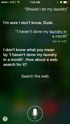 Siri was getting a little sassy this morning. And I think I may have scared her a little.