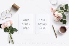 Card Mockup Styled Stock Photograph by Her Creative Studio on @creativemarket https://crmrkt.com/Wkdp7