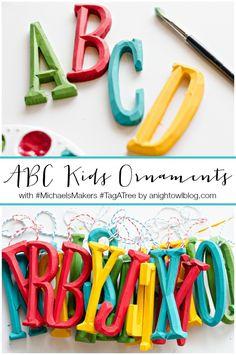 ABC Kids Christmas Ornaments