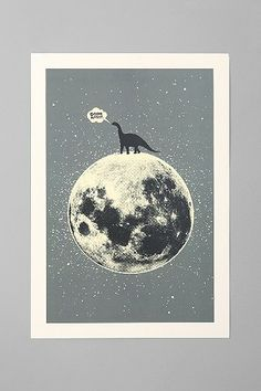 Aesthetic Apparatus For Society6 Lunasaurus Art Print. want.