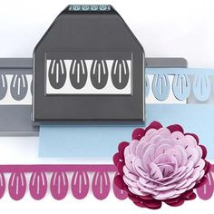 CARNATION DIMENSIONAL PUNCH-EK Success Paper Border/Edger-3D Quilling Flower