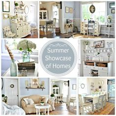 Summer Showcase of Homes by 26 Bloggers - via Town and Country Living