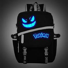 SHARP-Q One-horned Bear Kids Lightweight Canvas Travel Backpacks School Book Bag