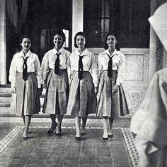 St. Paul's College, Manila, 1960s #kasaysayan #pinoy #classpicture Filipino Fashion, Philippines Culture, Filipiniana, Class Pictures, Pinoy, Manila, Over The Years, Book Art, Pop Culture
