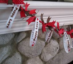 Puppy Love Ribbon Banner by ThisandThatCrafter on Etsy
