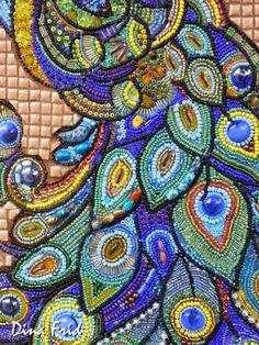 Hobby_Li: Сказочный павлин - мозаика из бисера