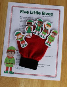5 Little Elves - A Christmas elf counting rhyme for circle time.