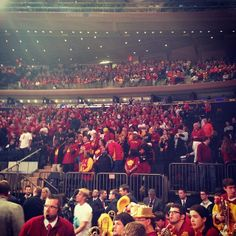 Cyclonenation out in full force at Madison Square Garden Sweet Caroline, Madison Square Garden, Iowa State, March Madness, Alma Mater, Sweet 16, Instagram, Sweet Sixteen