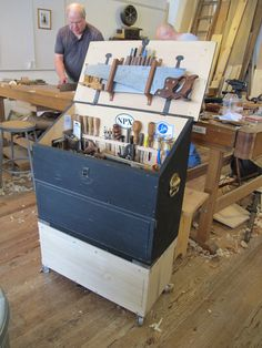 This week, I built a lower cabinet for my small Dutch tool chest, a project featured in the October 2013 issue of Popular Woodworking Magazine. The unit I just built sits below the tool chest proper and does a few nice things. 1. It gives me extra space for tooling and hardware that I sometimes need to drag along to classes I teach. 2. It raises the main tool well …