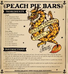 Sailor Jerry Peach Pie Bars