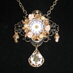 Steampunk necklace ♧ Alice in W♡NDERland #wonderland #steampunk