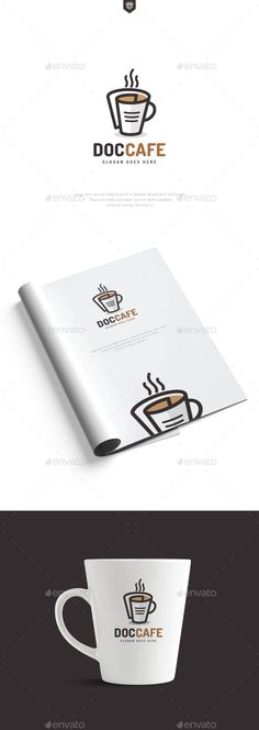 Document Cafe Logo: Food Logo Design Template by designhatti. Letterhead Template, Brochure Template, Logo Templates, Logos Photography, Coffee Photography, Logo Design, Graphic Design, Ci Design, Logos Vintage