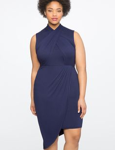 Wrap Front Dress   Women's Plus Size Dresses   ELOQUII