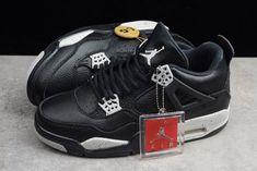 dbab4cc0f03b92 Mens Air Jordan 4 IV Retro LS Oreo Black Tech Grey 314254-003 Shoes-