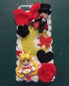 How to decoden phone case Kawaii sailor moon helpful hints diy tutorial Cute Cases, Cute Phone Cases, Iphone Cases, Decoden Phone Case, Kawaii Phone Case, Diy Arts And Crafts, Crafts For Kids, Diy Crafts, Diy Kawaii