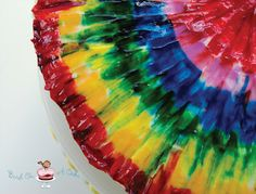 Tie-Dye Cake Icing- Make circles of food coloring gel, & brush it out from center with a small, flat paintbrush.  See the great instructions.