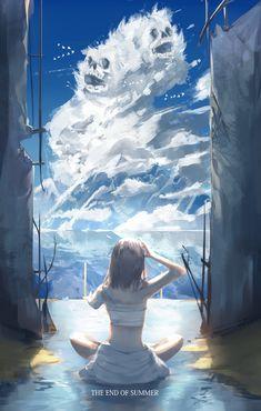 Depression Will Go Away Landscape Concept, Fantasy Landscape, Anime Fantasy, Fantasy Art, Japanese Animated Movies, Fantasias Halloween, Image Manga, Anime Scenery, Environmental Art