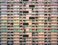 Hong Kong- Michael Wolf - layers of colour, dirty pastel, grids-