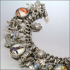 Charm Bracelet Peter Pan Neverland Tinkerbell by BlackberryDesigns, $87.00