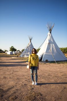 Rag + Bone sweater / denim in the middle of the desert (today on chicityfashion.com)