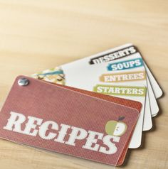 Recipe swatchbook -- such a fun gift!