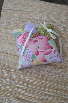 SALE Wedding Ring Pillow Zen Garden Fabric by mailebaldwin on Etsy