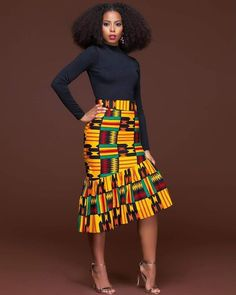 African fashion is available in a wide range of style and design. Whether it is men African fashion or women African fashion, you will notice. African Print Skirt, African Print Dresses, African Fashion Dresses, African Fabric, African Dress, Fashion Outfits, African Prints, Fashion Styles, Ghanaian Fashion