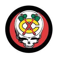 Chicago Blackhawks Grateful Dead 'C' Tomahawk Logo