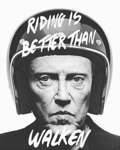 """motorcycleism: """" True dat! #christopherwalken #motorcycles """""""