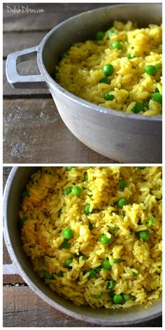 Homemade Spanish yellow rice (arroz amarillo) takes about as much time to make as the boxed stuff, without any weird additives. Get this easy recipe now! Rice Recipes, Side Dish Recipes, Mexican Food Recipes, Cooking Recipes, Healthy Recipes, Ethnic Recipes, Yummy Recipes, Rice Side Dishes, Food Dishes